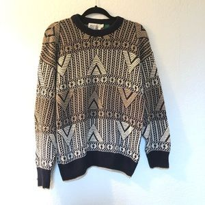 Penn's Lansing cotton tribal chunky knit vintage